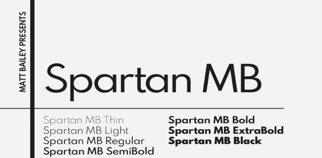 Free Download: Spartan Typeface