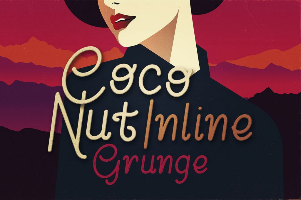 Free Download: Coconut Inline Grunge