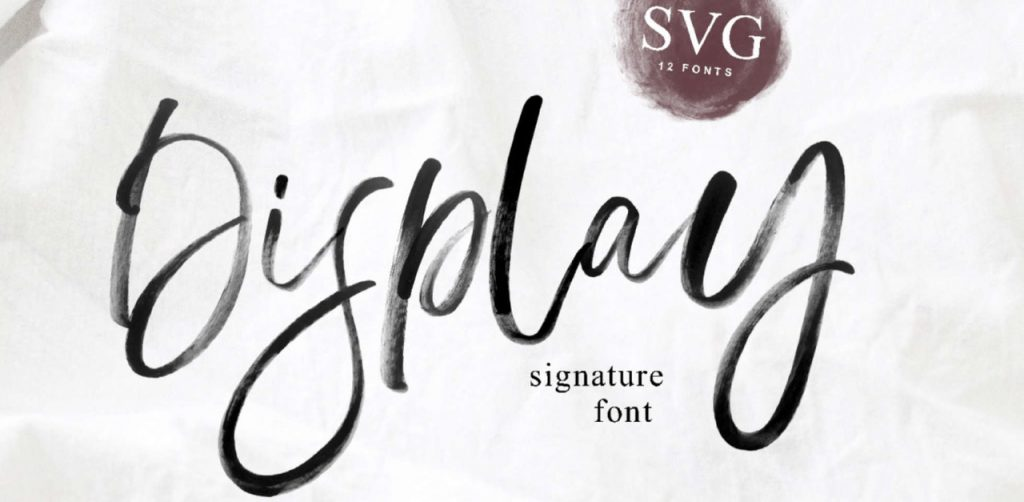 Free Download: Display SVG Font