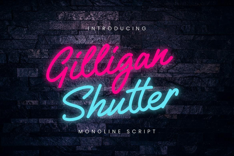Free Download: Gilligan Shutter Font