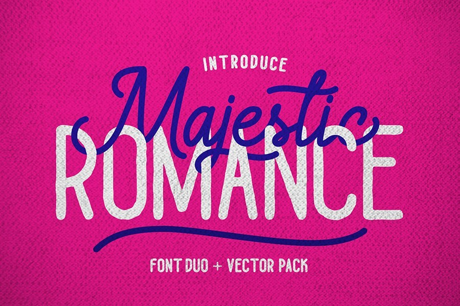 Free Download: Majestic Romance Monoline Script