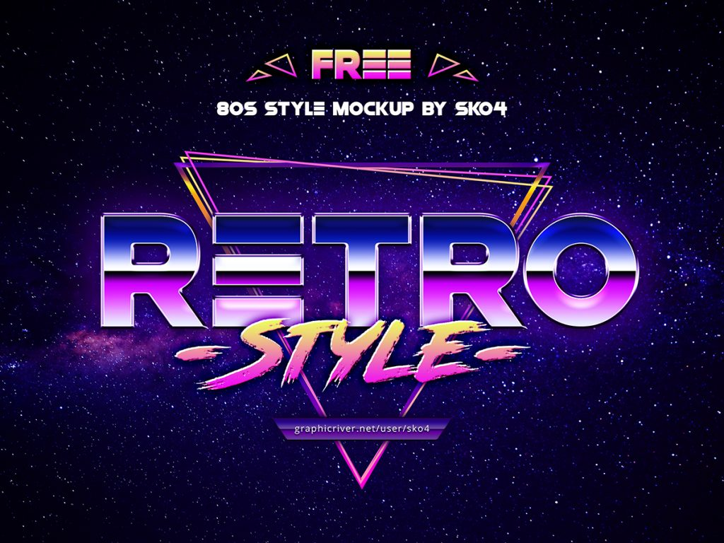 Free Download: 80s Retro Vibe Mockup