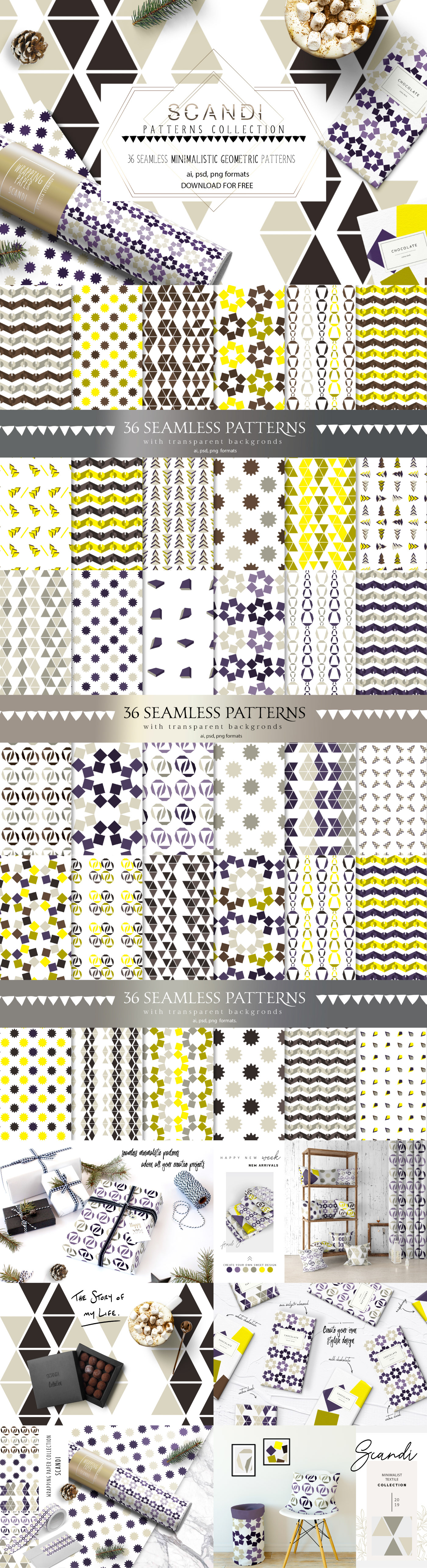 Free Download: Scandi Patterns Collection | Webdesigner Depot