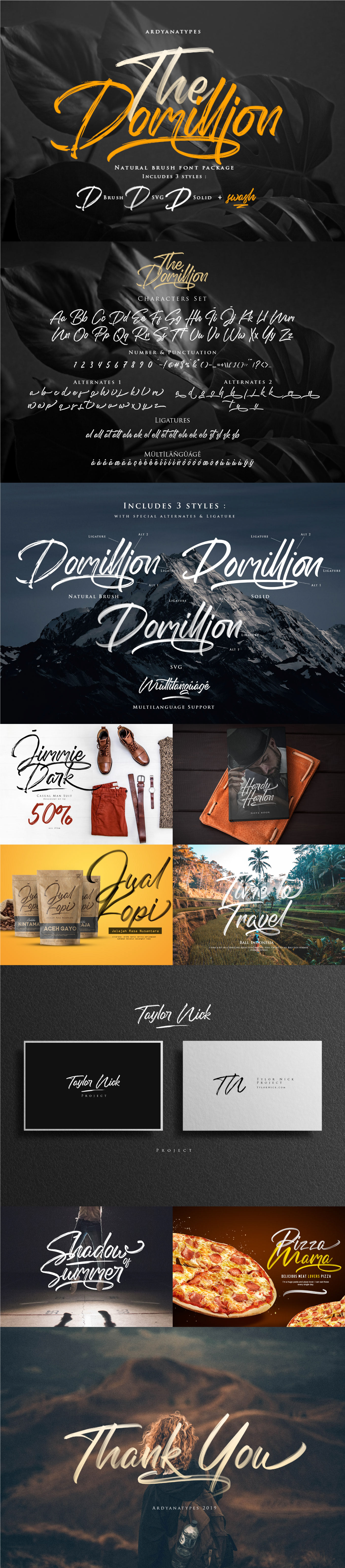 Free Download: The Domillion Brush Font - MightyDeals