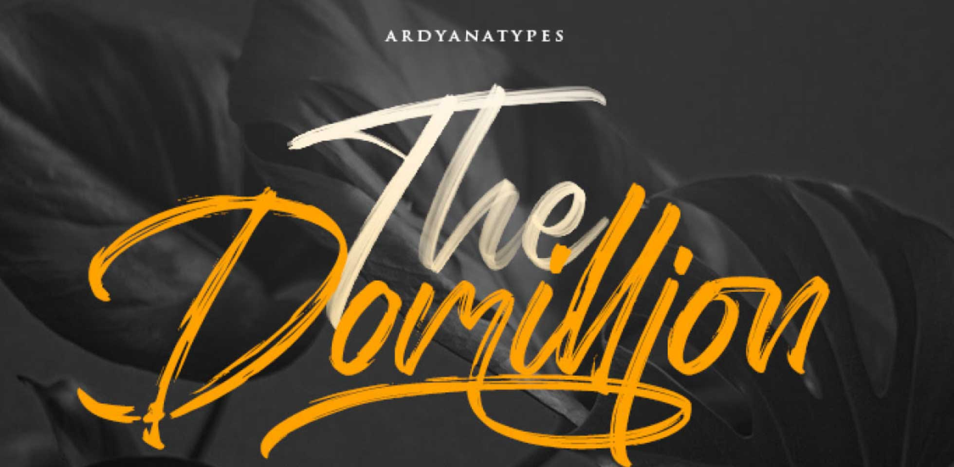 Free Download: The Domillion Brush Font