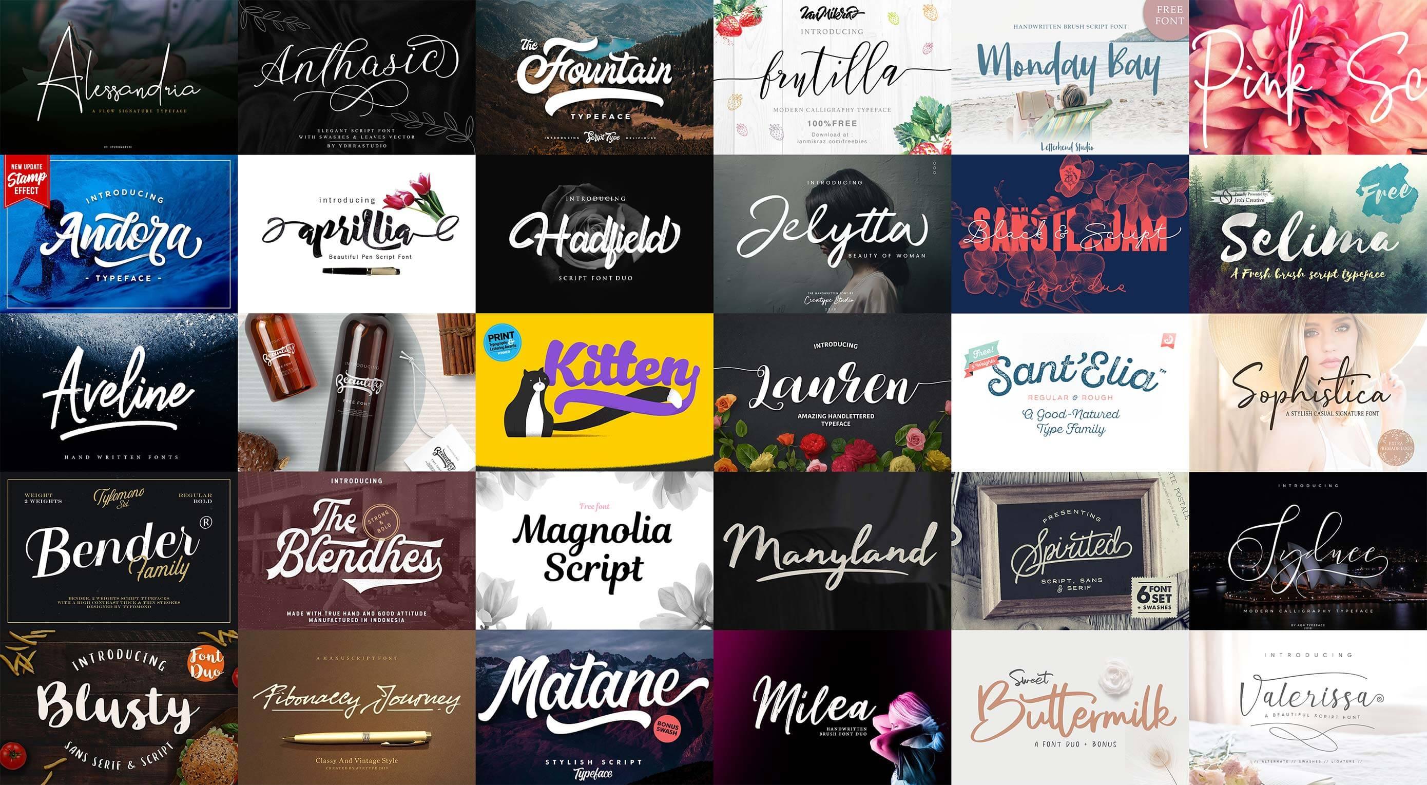 Free Download: 30 Script Fonts
