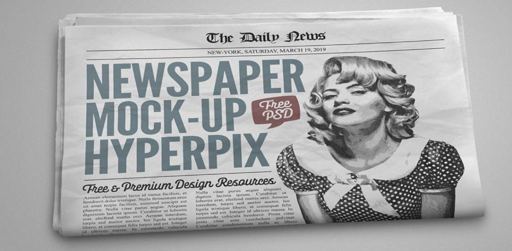 Free Download: Newspaper Mockup