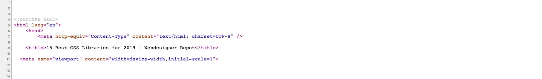 WebDesigner Depot - HTML Meta Tags