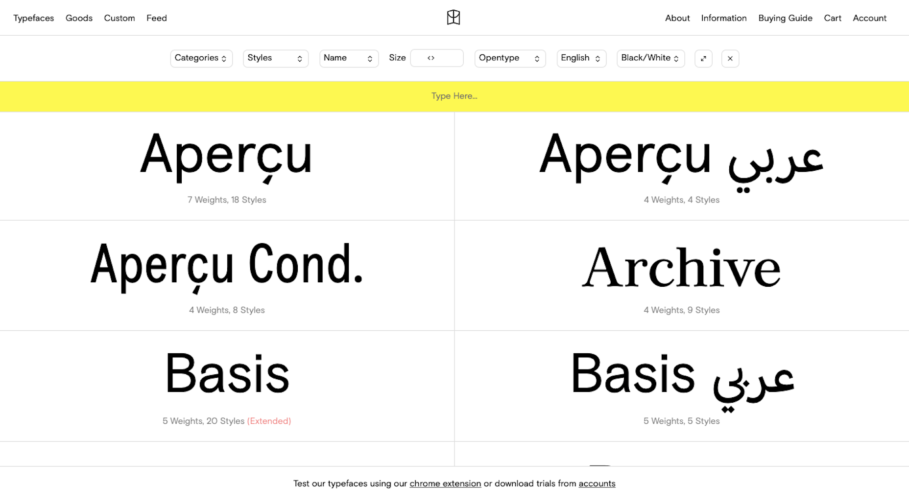 Colophon -- one of the best type foundries