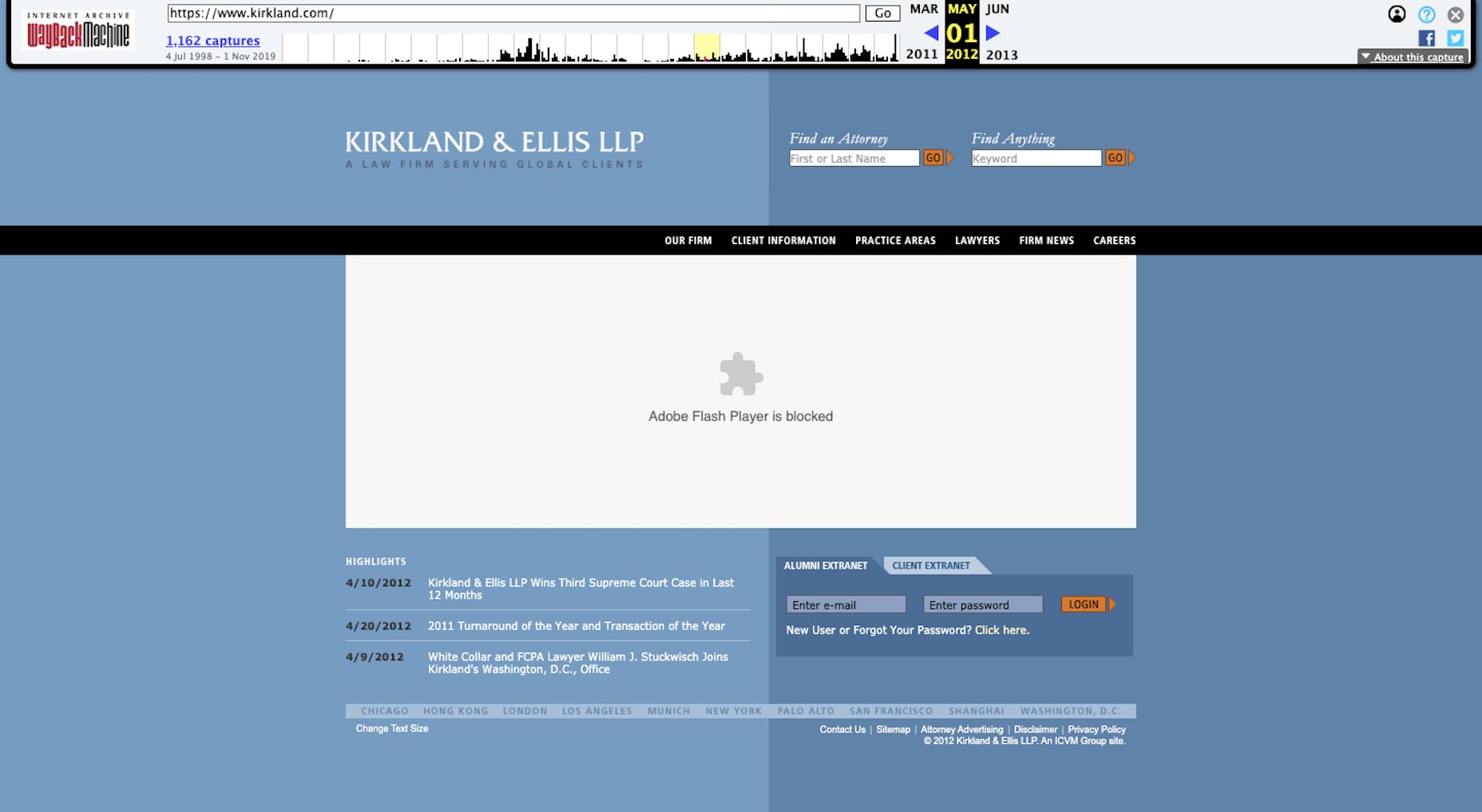 Kirkland Ellis Flash Player