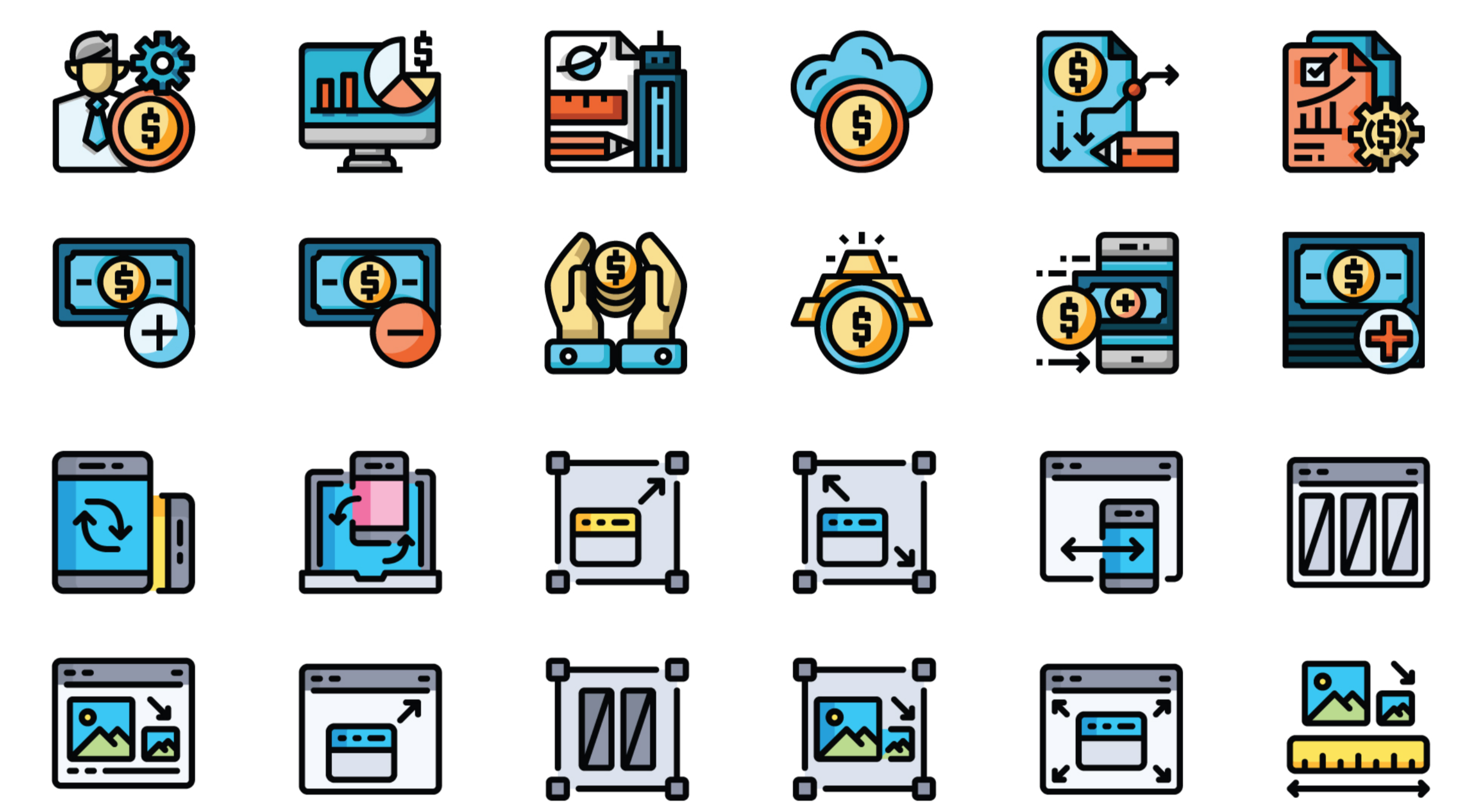 Free Download: 60 Free Investment and RWD Icons