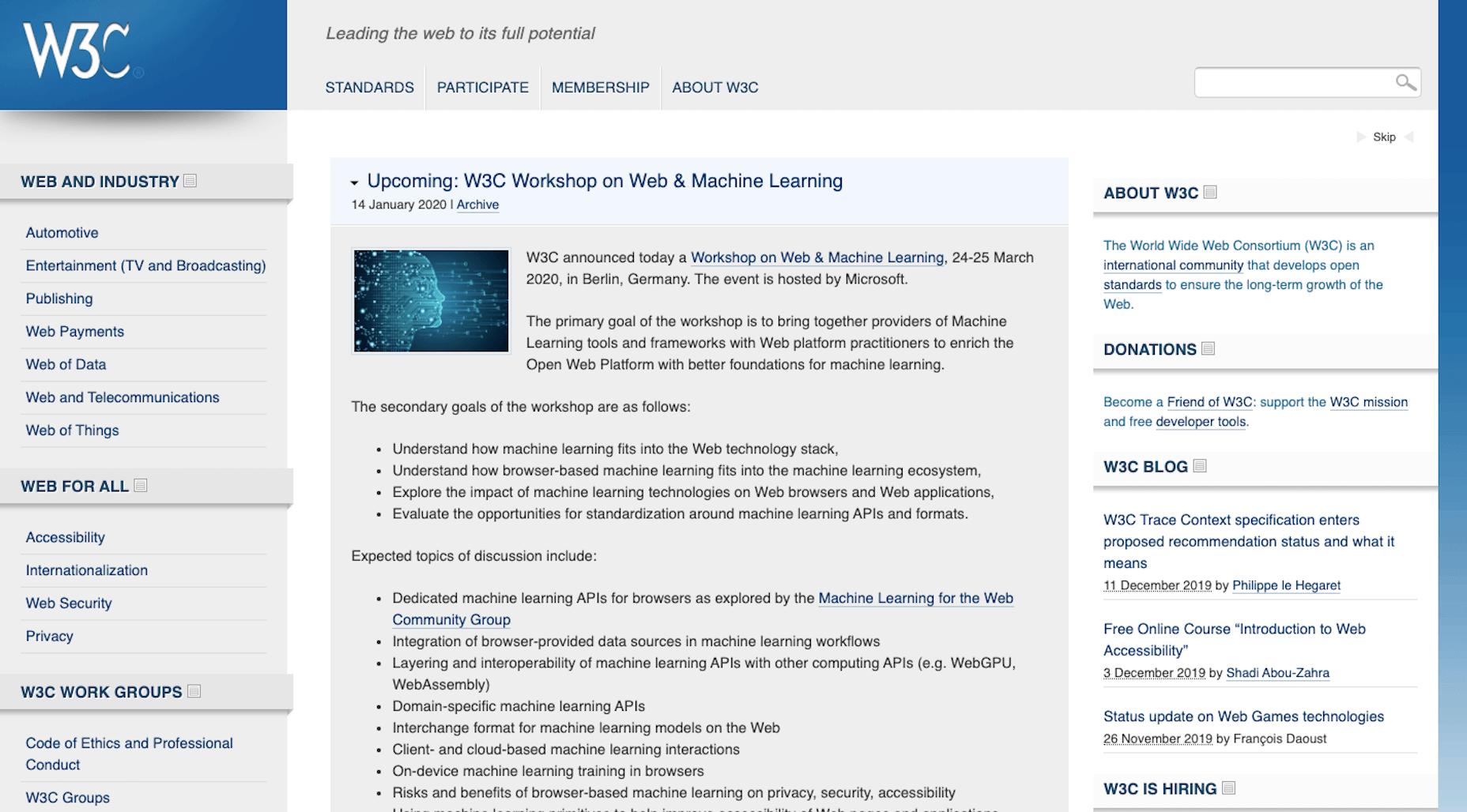 W3C Web Standards