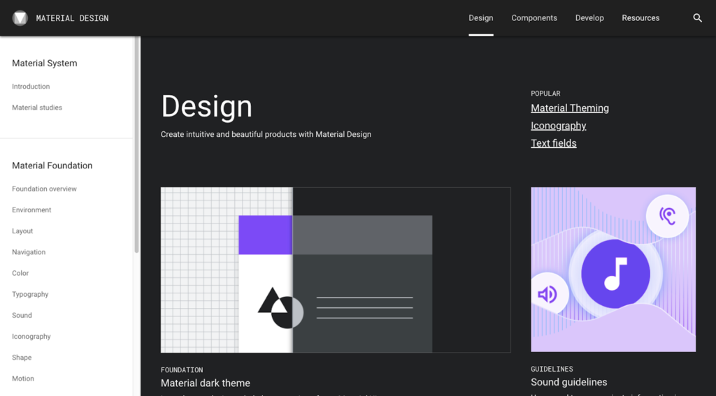 Material Design - Design Systems Example