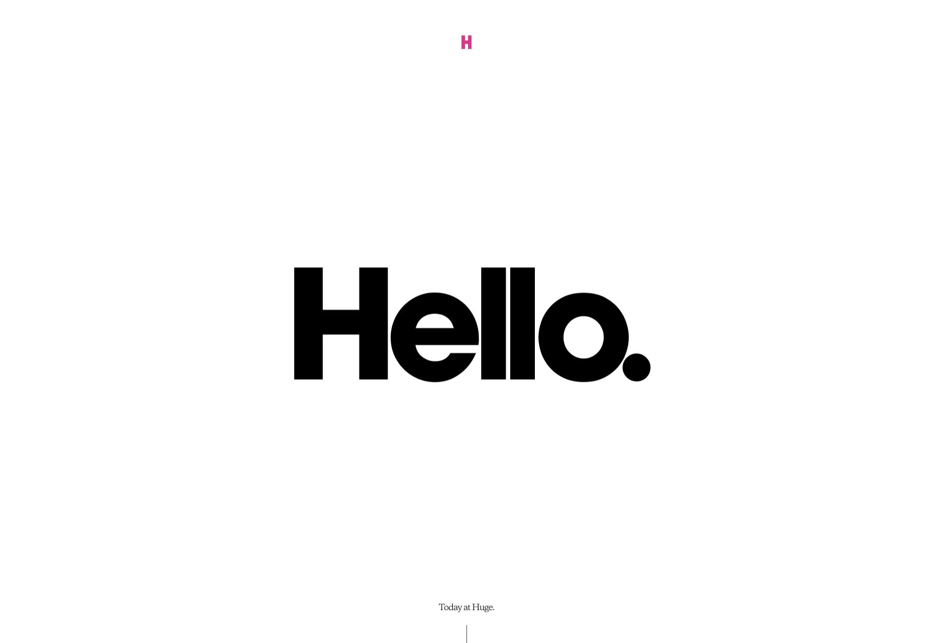 Минимализм в веб дизайне - Hello.