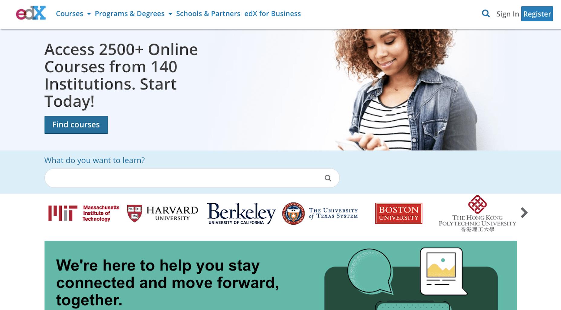 Cours et ressources gratuits sur l'edX pour les concepteurs de sites web