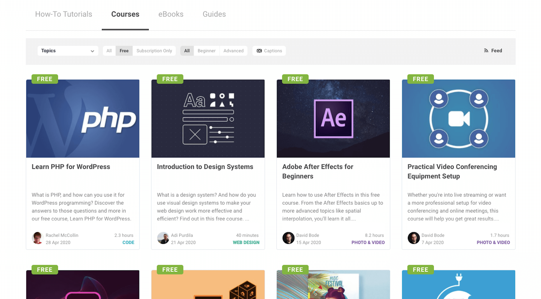 Envato Tuts+ free courses for web designers and developers