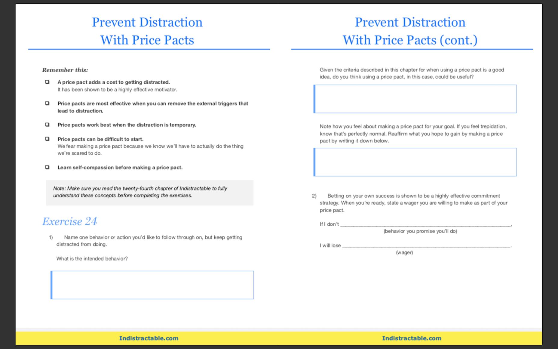 Indistractible Workbook