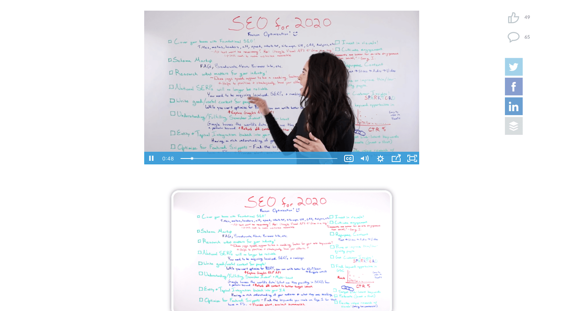 Moz Whiteboard Friday Classes