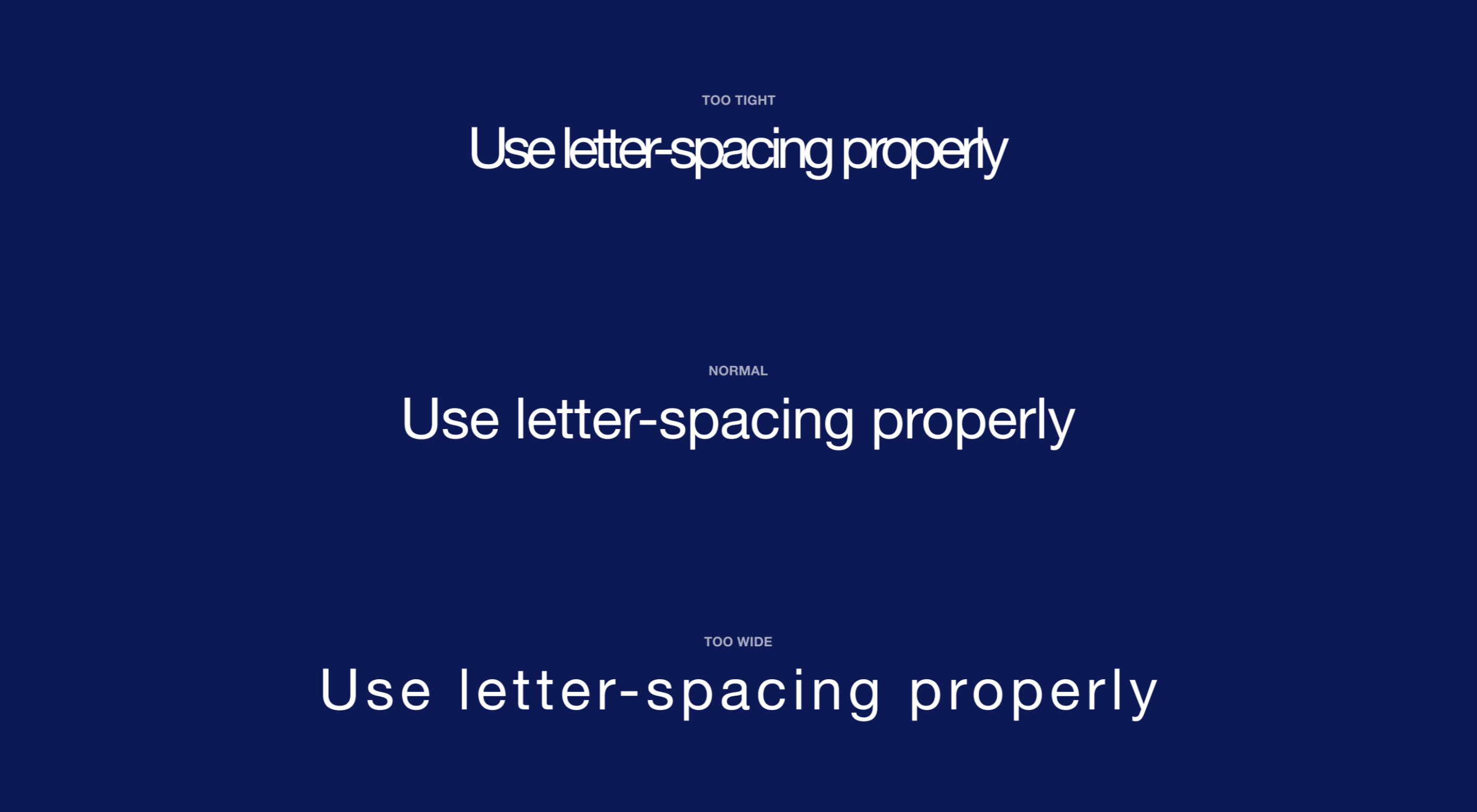 The Designer's Guide to Letter-Spacing