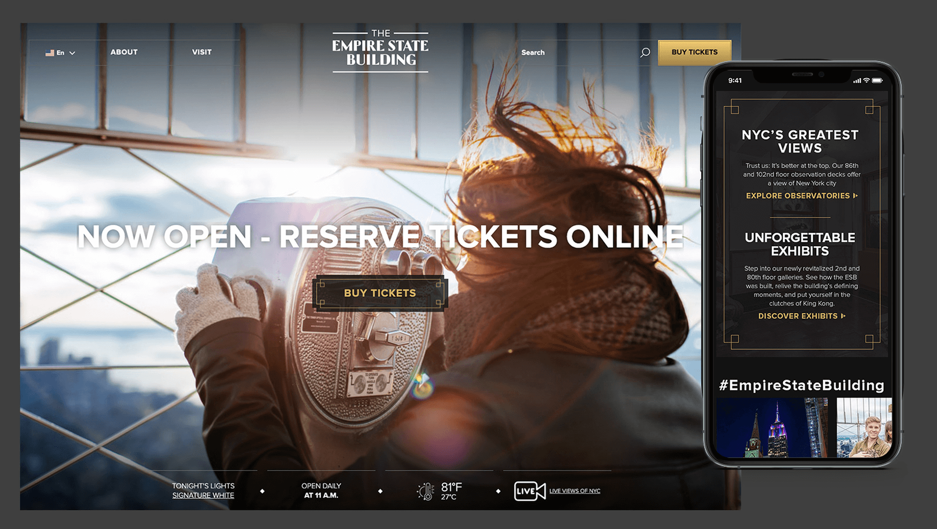 Empire State Building Website Redesign