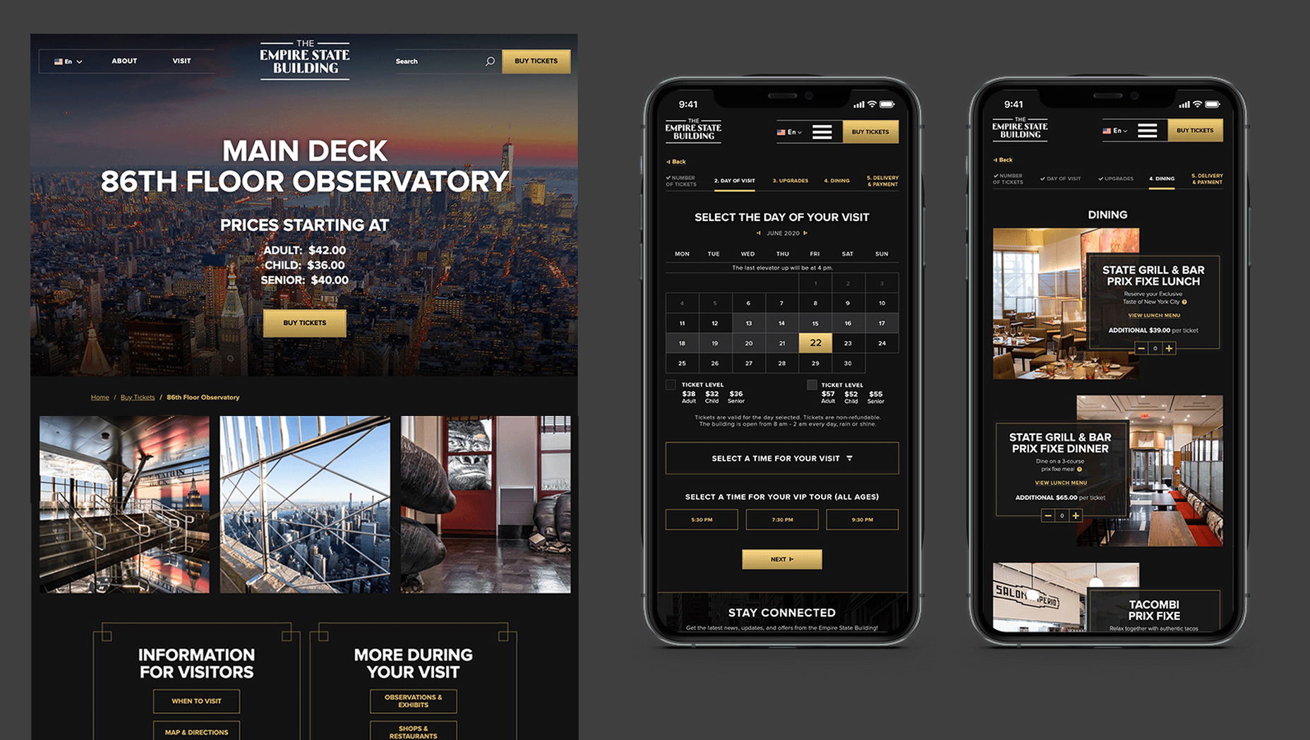 Empire State Building Website and Mobile App Redesign