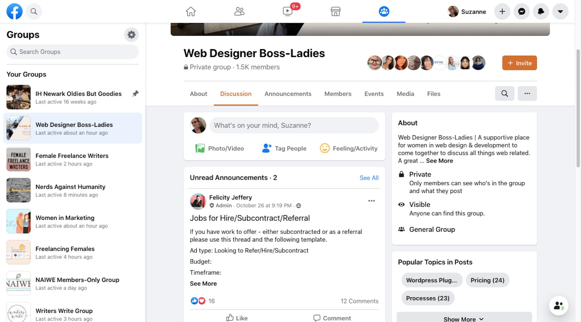 Facebook Group - Web Designer Boss-Ladies