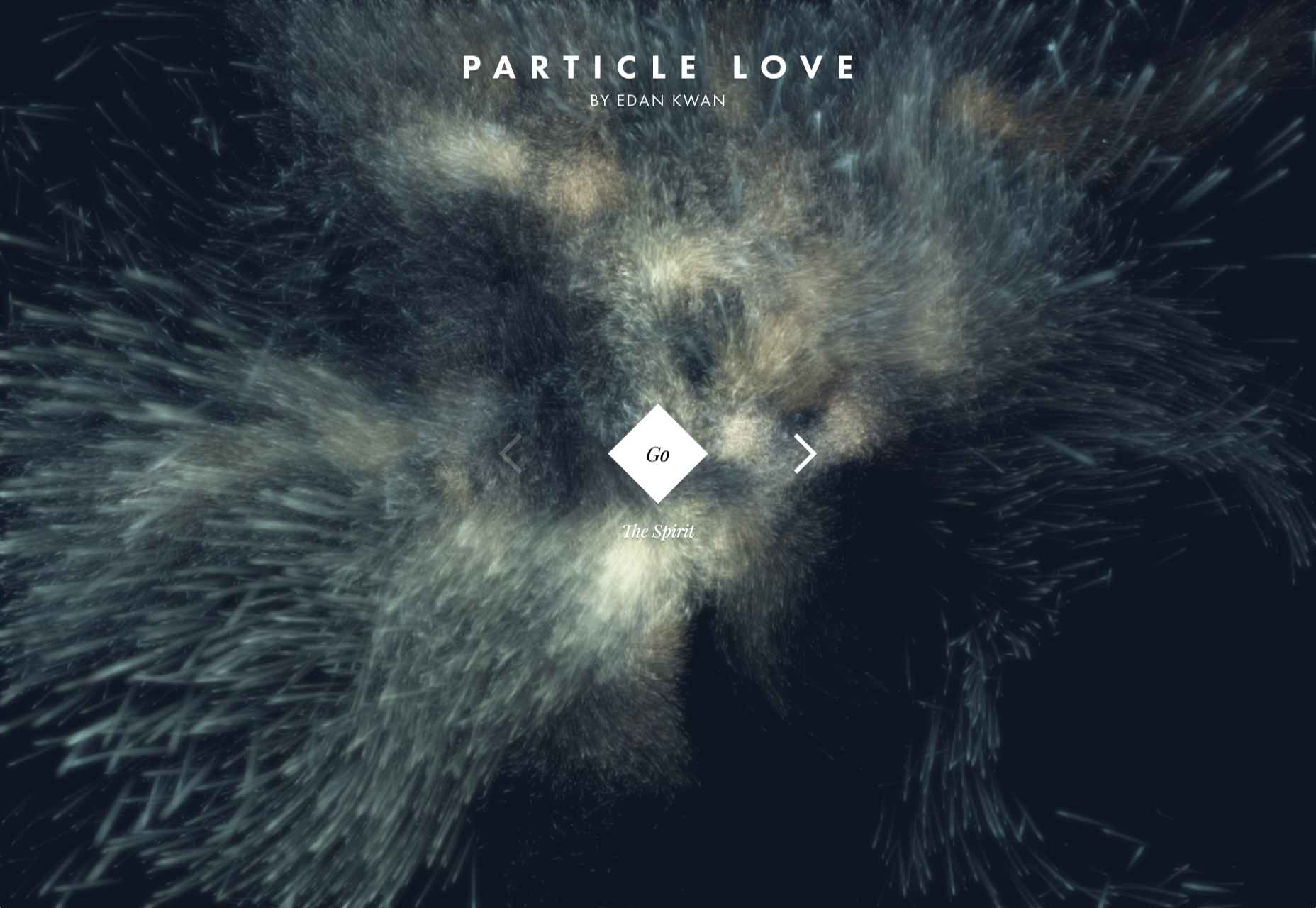 Анимация для сайта - частицы