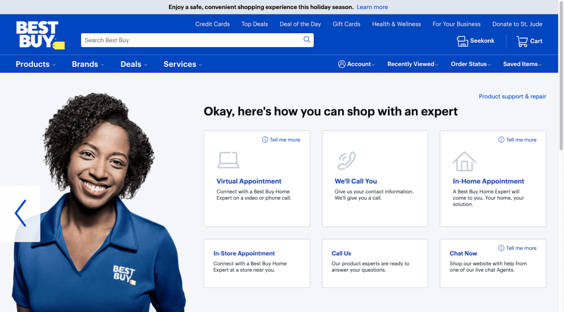 Best Buy customers choose how they want to work with shopping expert
