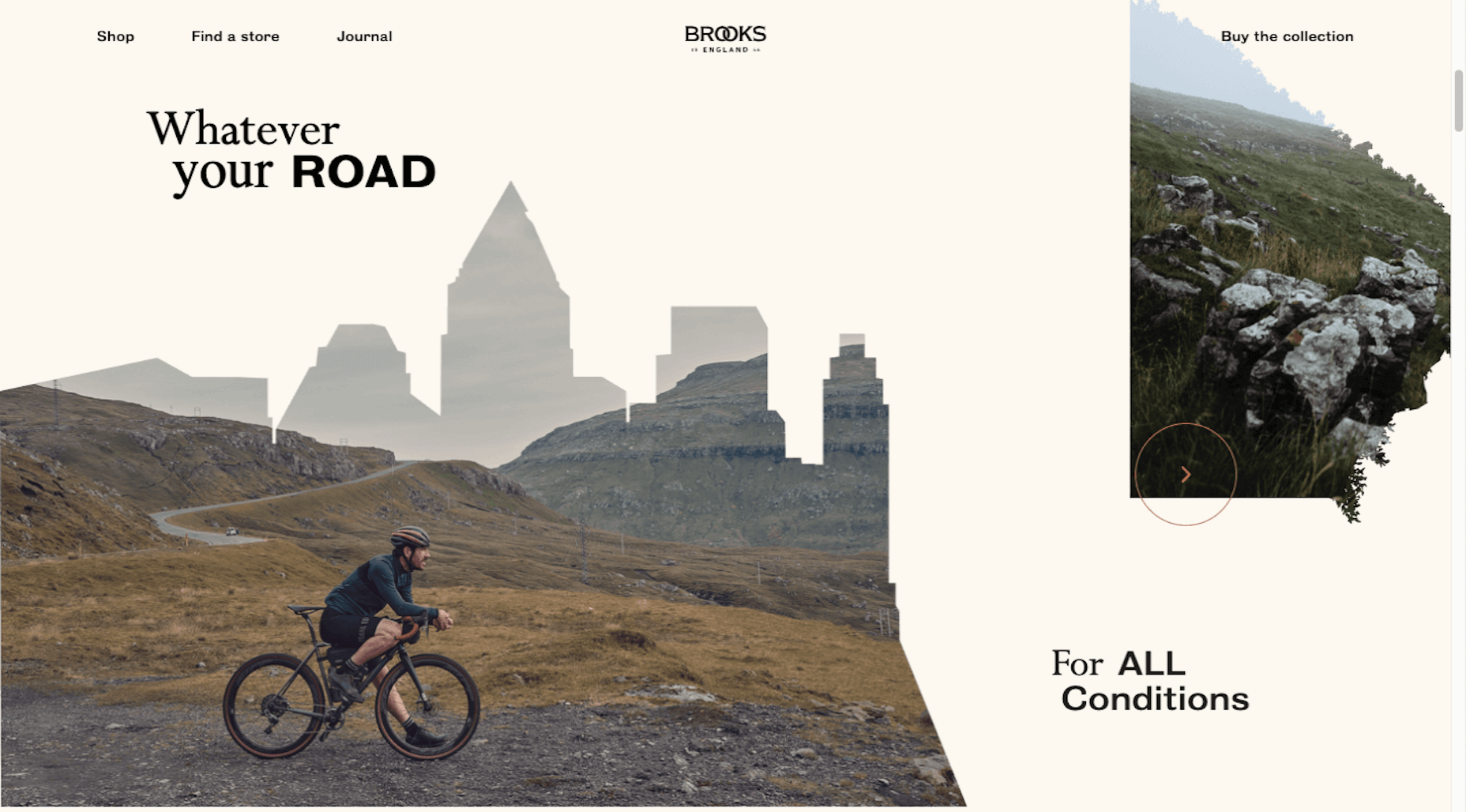 Ecommerce trends - calmer color palettes like the one used by Brooks England