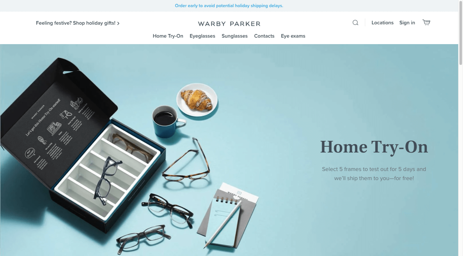 Warby Parker gives online shoppers ability to try 5 pairs of glasses on at home