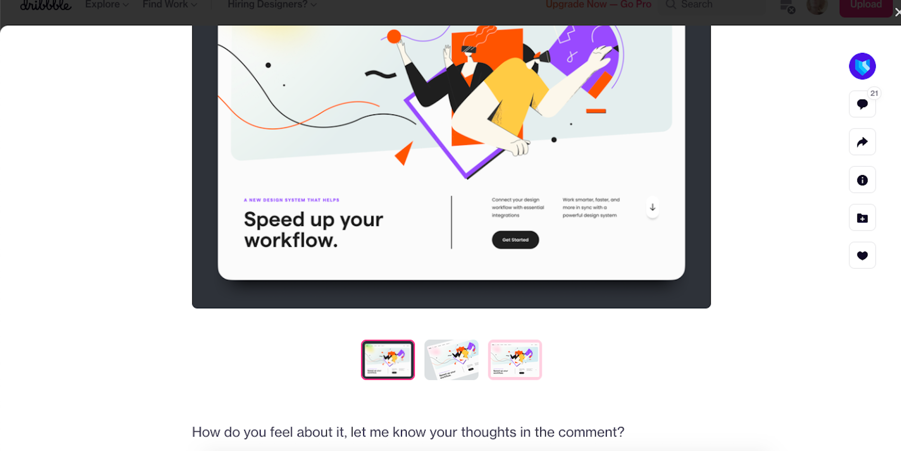 Design agency UI8 asks Dribbble users for feedback