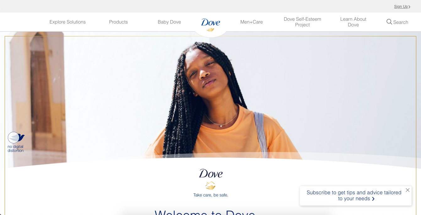 "Dove says there's ""no digital distortion"" used in this photo of the model"