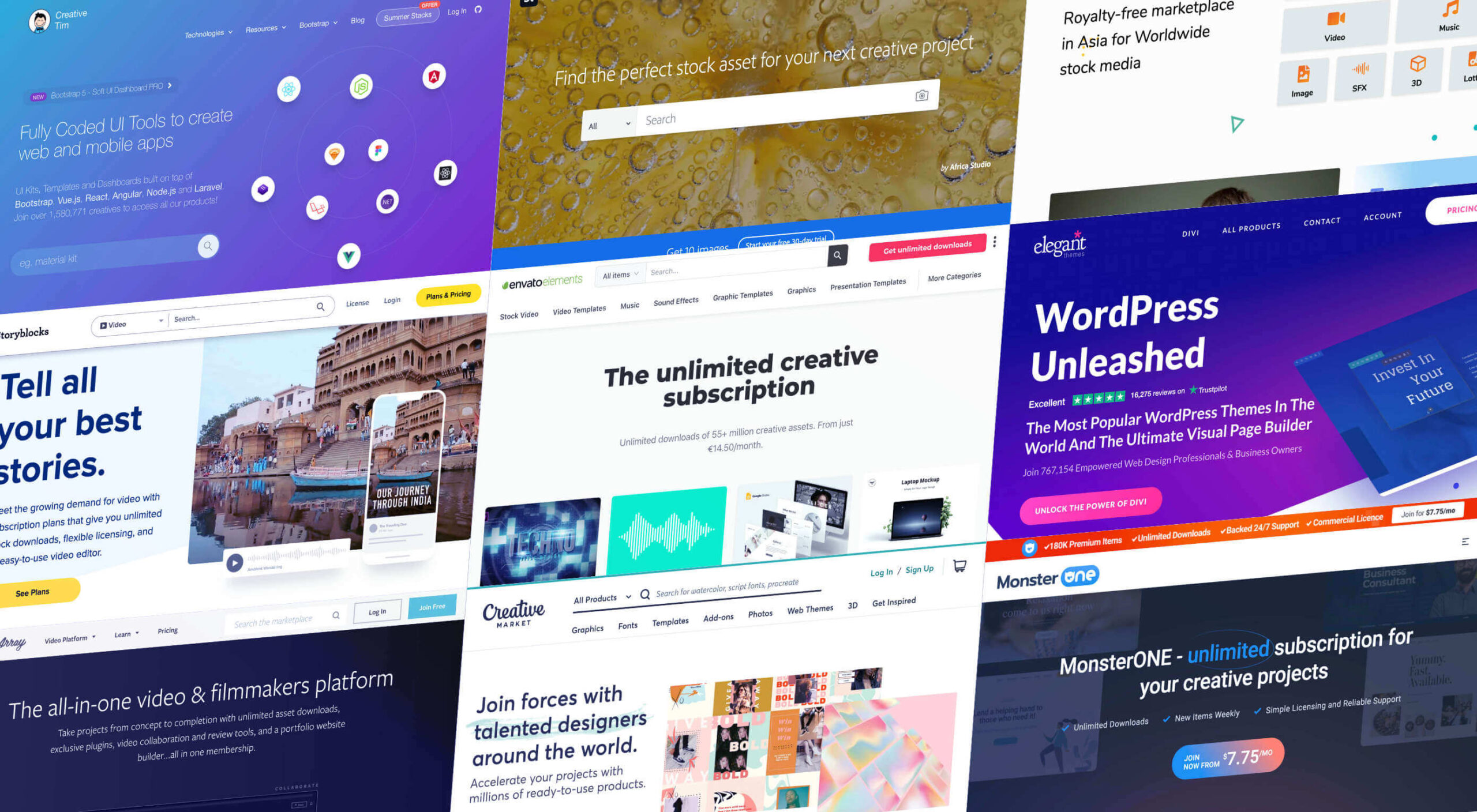 9 Amazing Design-Resource Package Sites