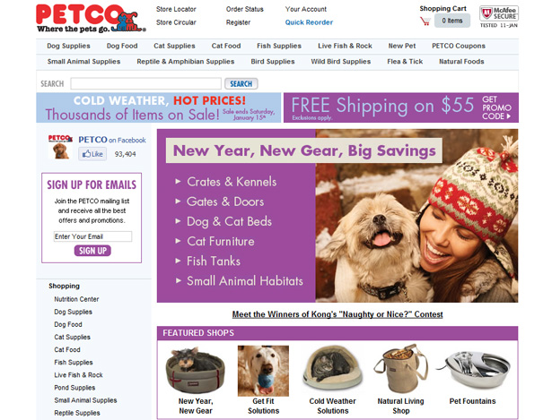 Petco full website