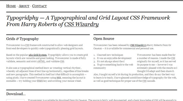 The 960 grid system toolbox resources webdesigner depot typogridphy is a css framework constructed to allow web designers and front end developers to quickly code typographically pleasing grid layouts malvernweather Gallery