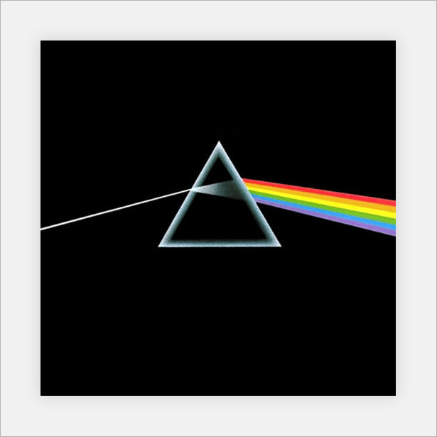 Yet Another Fairly Famous Piece Of Album Art A Simple Illustration Light Going Through Prism And Breaking Up Into Its Constituent Spectral Colors