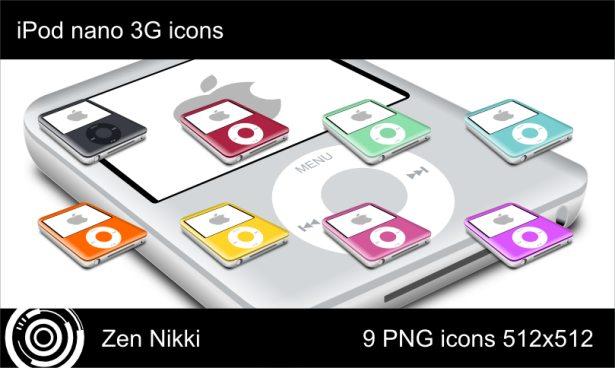 iPod Nano 3G Icons