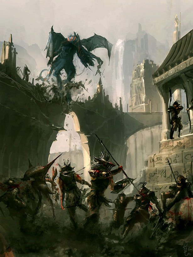 50 Incredible Examples Of Battle Art Webdesigner Depot