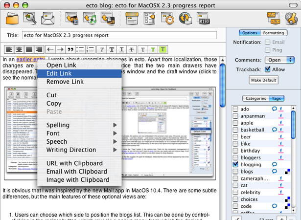 Image result for Ecto (Mac)