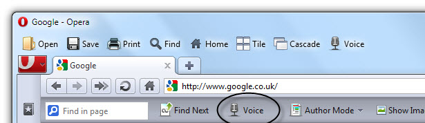 The Opera browsers built in screen reader.
