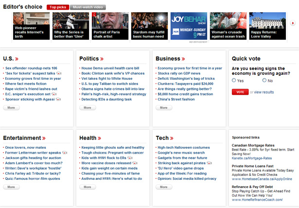 CNN.com below the fold