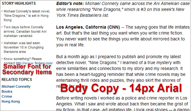 CNN.com body copy