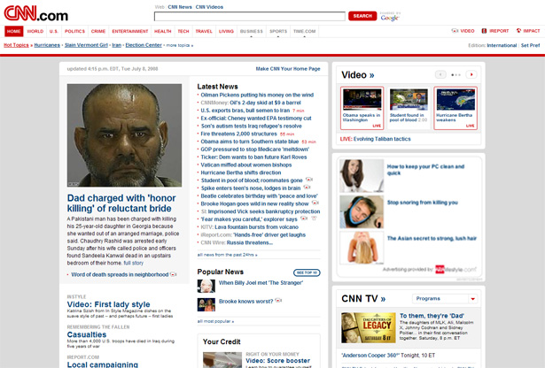 CNN.com old design