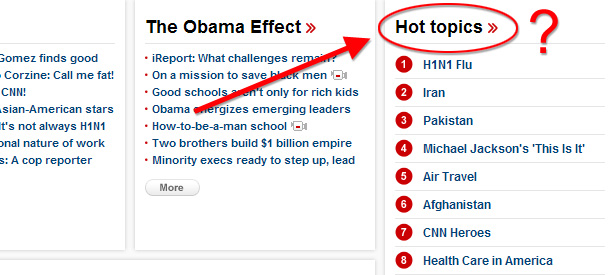 CNN.com Hot Topics