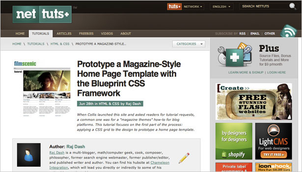 250 resources to help you become a css expert webdesigner depot prototyping a magazine style home page template with the blueprint css framework a very valuable guide for creating magazine and grid type layouts with malvernweather Image collections