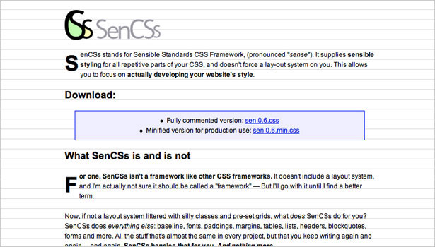 250 resources to help you become a css expert webdesigner depot sencss a framework that focuses on creating sensible styling for repetitive parts of your css malvernweather Images