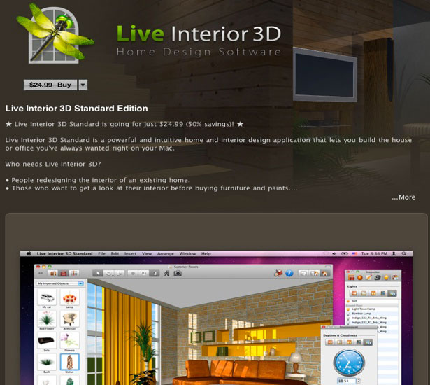 30 design apps on the mac app store webdesigner depot - Interior design software mac ...