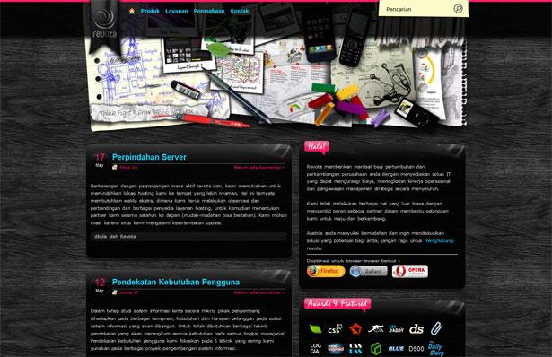 30 desktop and office themed website designs webdesigner