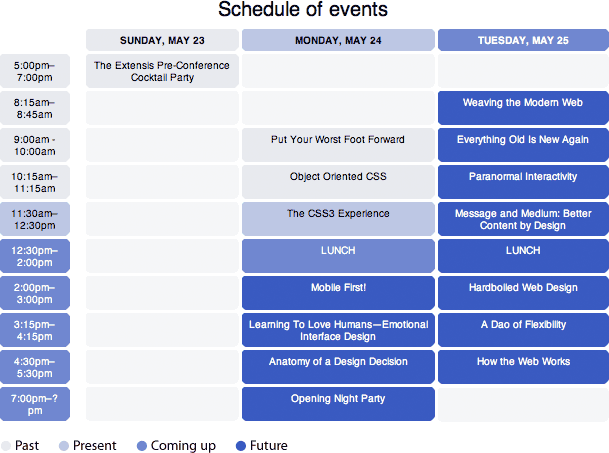 an event apart schedule