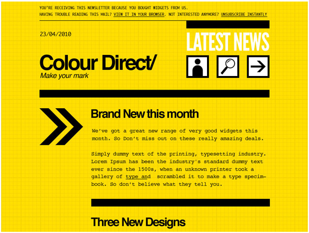do s and don ts for designing email newsletters webdesigner depot